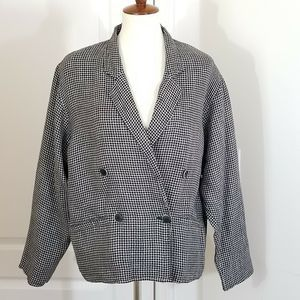 MaxMara Blazer Linen Double Breasted houndstooth 8